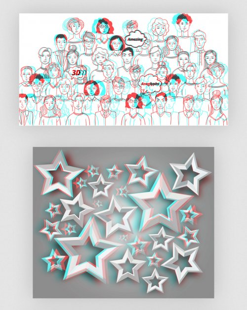 3D Layers Anaglyph