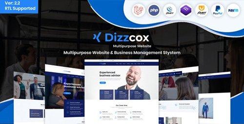 CodeCanyon - Dizzcox v2.2 - Multipurpose Website & Business Management System CMS - 25986228