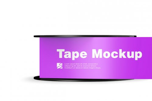 CreativeMarket - Glossy Duct Tape Mockup 5004934