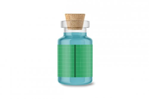 CreativeMarket - Glass Medical Bottle 5004929