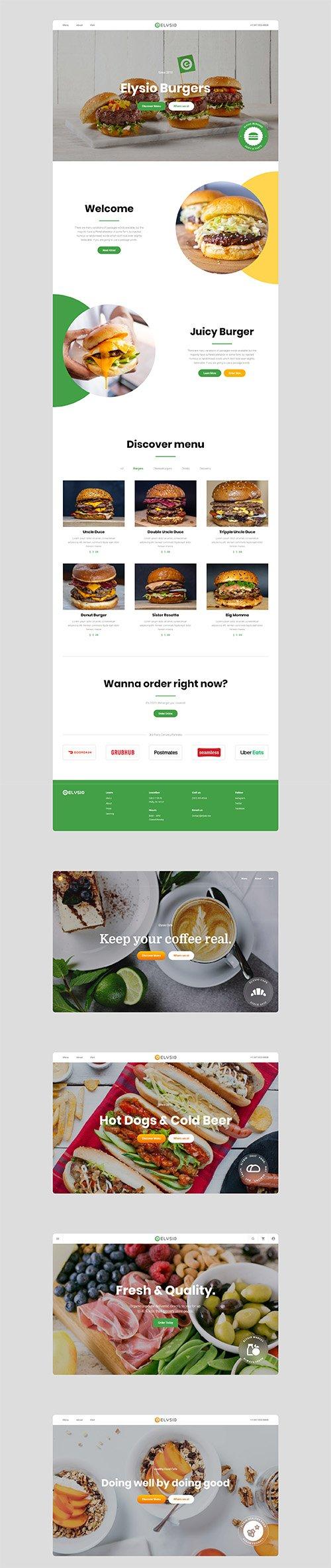Elysio - Food Web UI Kit