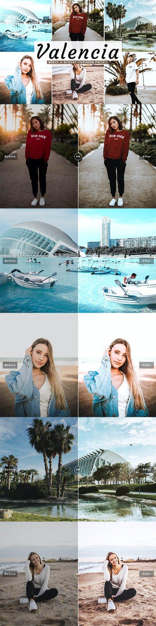 Valencia Mobile & Desktop Lightroom Presets