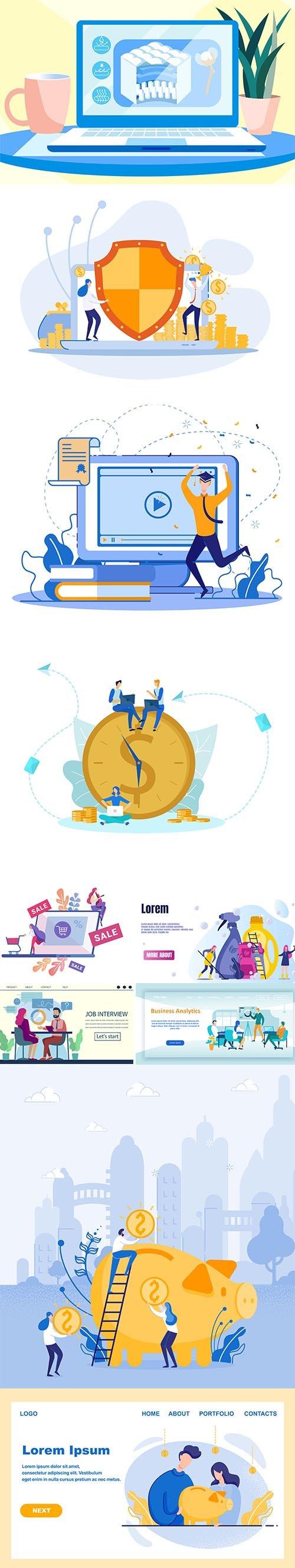 Business Illustrations Flat Vector