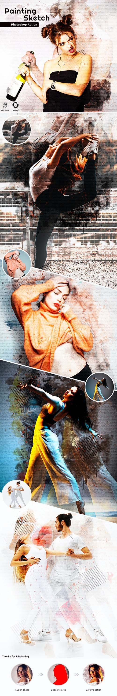 GraphicRiver - Painting Sketch Photoshop Action 26119936