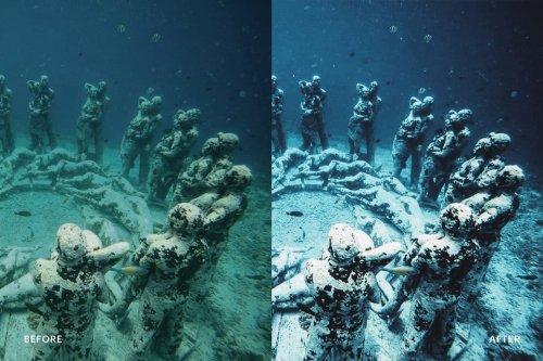 CreativeMarket - Lightroom Preset-Underwater Blue 4976194