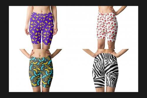 CreativeMarket - Short Leggings Mock-Up Set 4598590