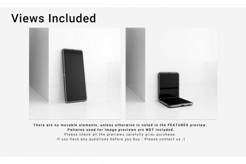 CreativeMarket - Samsung Galaxy Z Flip Mockups Set 4607512