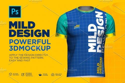 CreativeMarket - 3d Mockup: Short Sleeve T-shirt 4607880