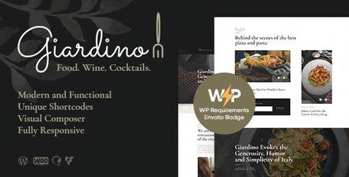 ThemeForest - Giardino v1.0.5 - An Italian Restaurant & Cafe WordPress Theme - 23069531