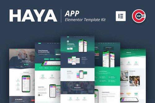 ThemeForest - Haya v1.0 - App Template Kit - 26974347