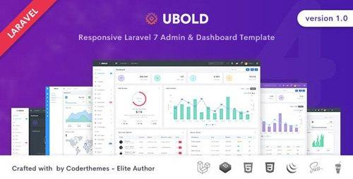 ThemeForest - Ubold v1.0 - Laravel Admin & Dashboard Template - 26842620