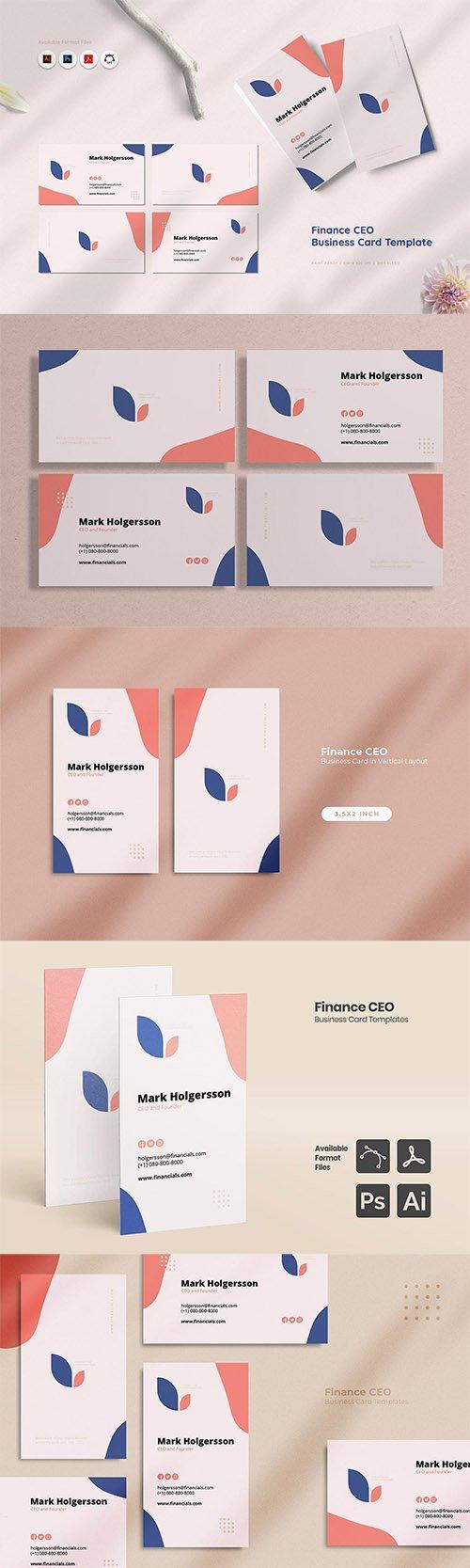Finance CEO Business Card
