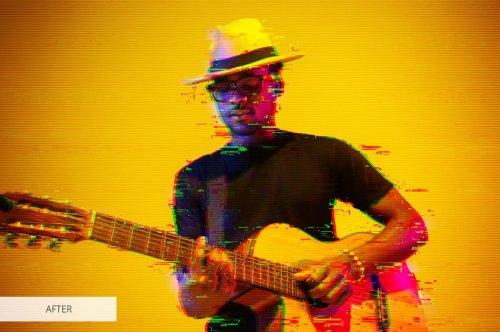 CreativeMarket - Glitch Photoshop Action 4870269