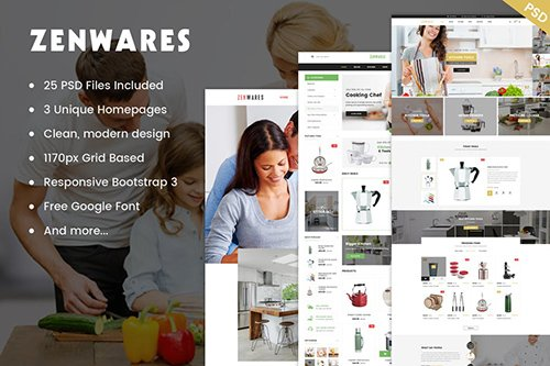 Zenwares - Multi-Purpose eCommerce PSD Template