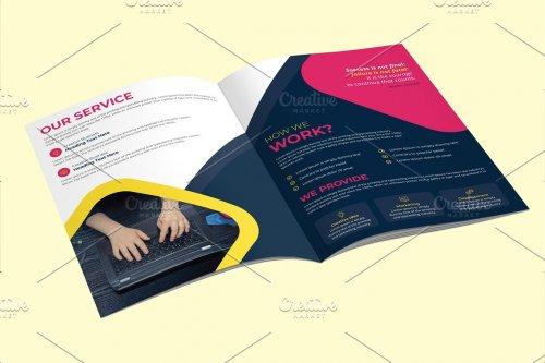 CreativeMarket - Business Magazine Brochure Template 4594009