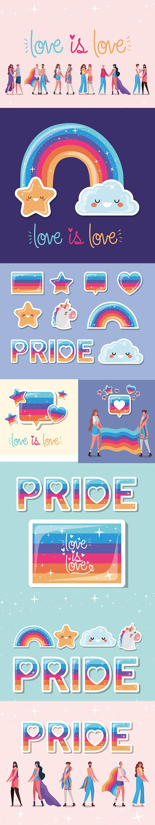 Colorful Images Love is Love