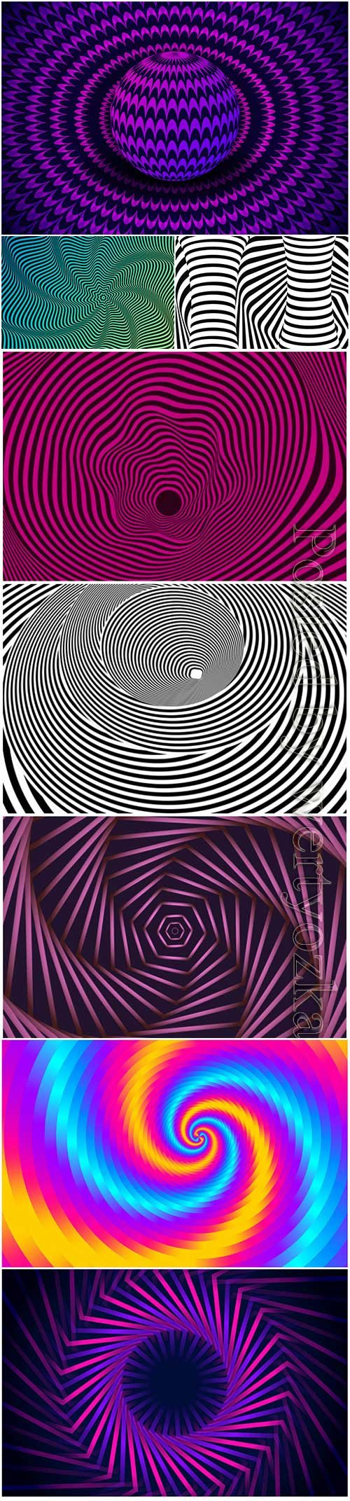 Psychedelic optical illusion vector background # 10