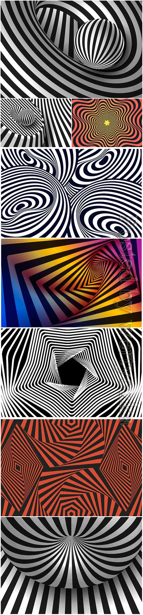 Psychedelic optical illusion vector background # 9