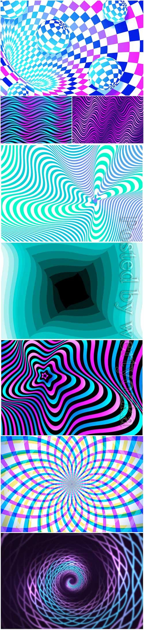 Psychedelic optical illusion vector background # 8