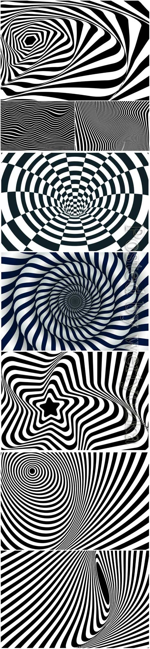 Psychedelic optical illusion vector background # 6