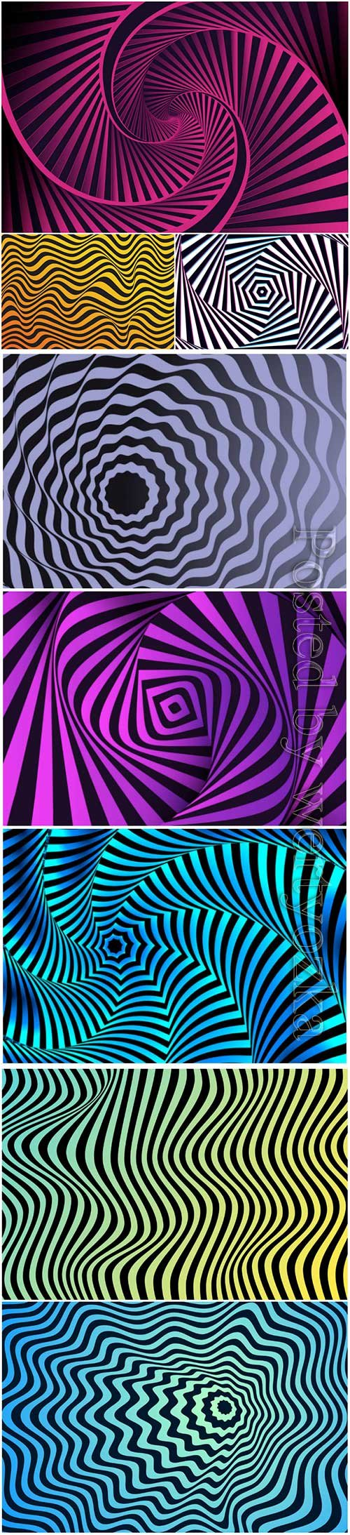 Psychedelic optical illusion vector background # 7