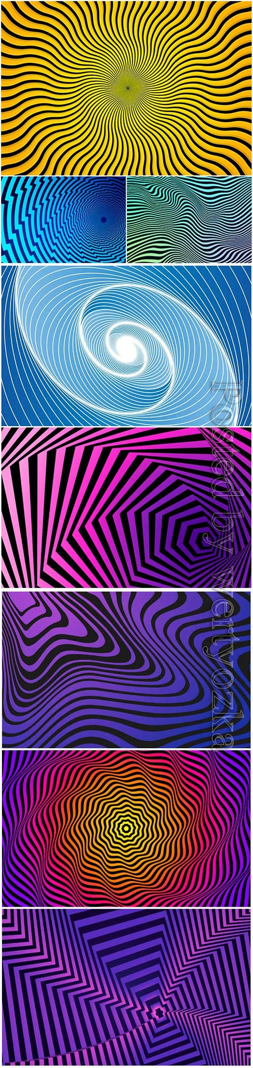 Psychedelic optical illusion vector background # 5