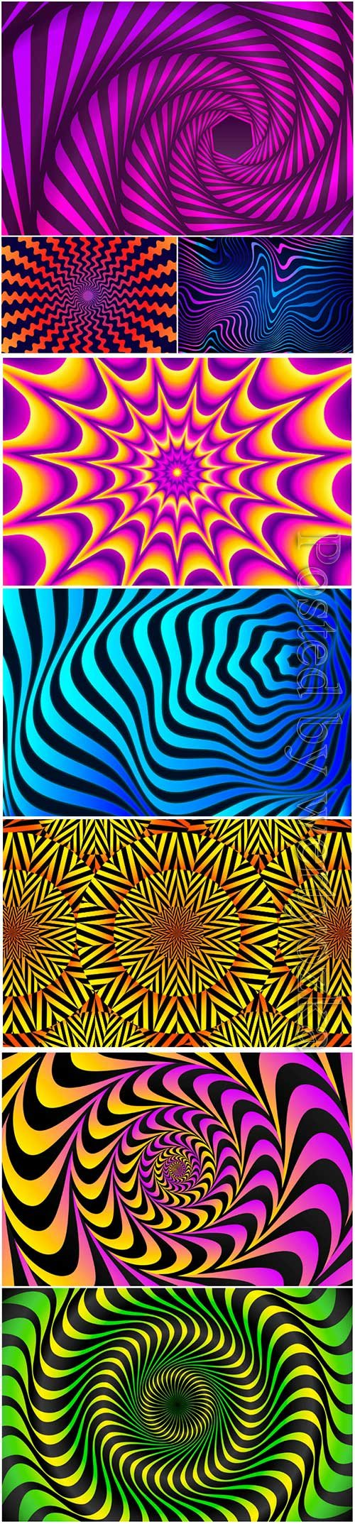 Psychedelic optical illusion vector background # 4