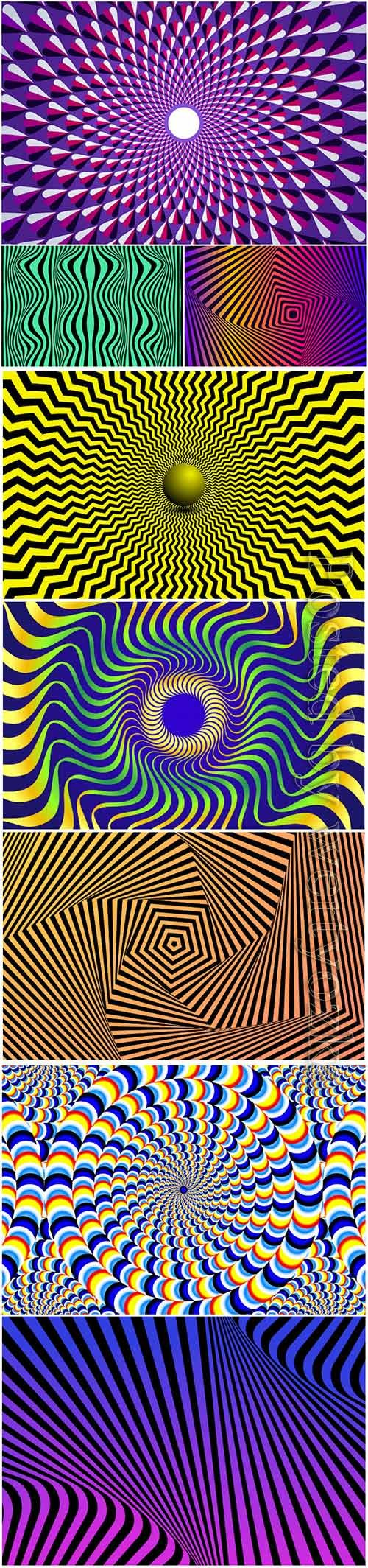 Psychedelic optical illusion vector background # 3