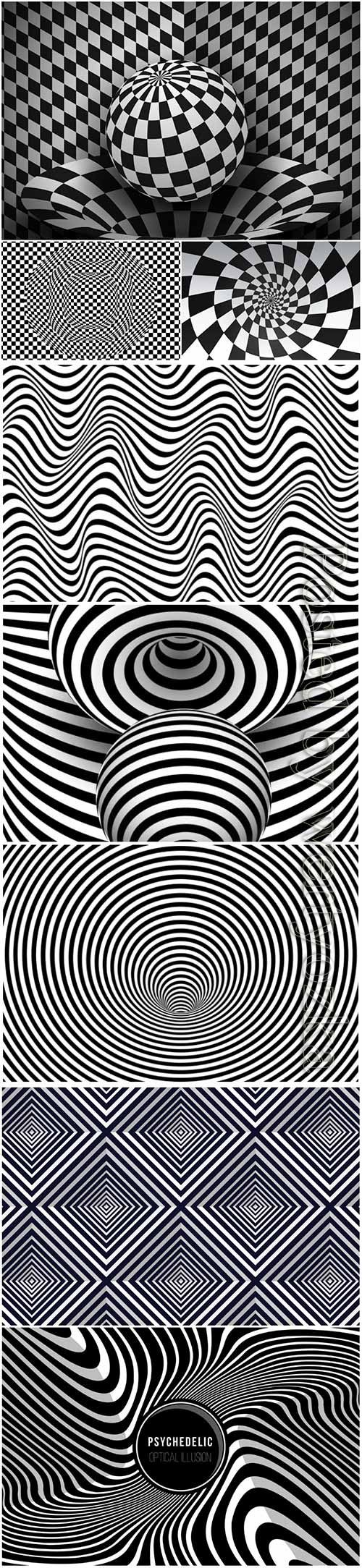 Psychedelic optical illusion vector background # 2