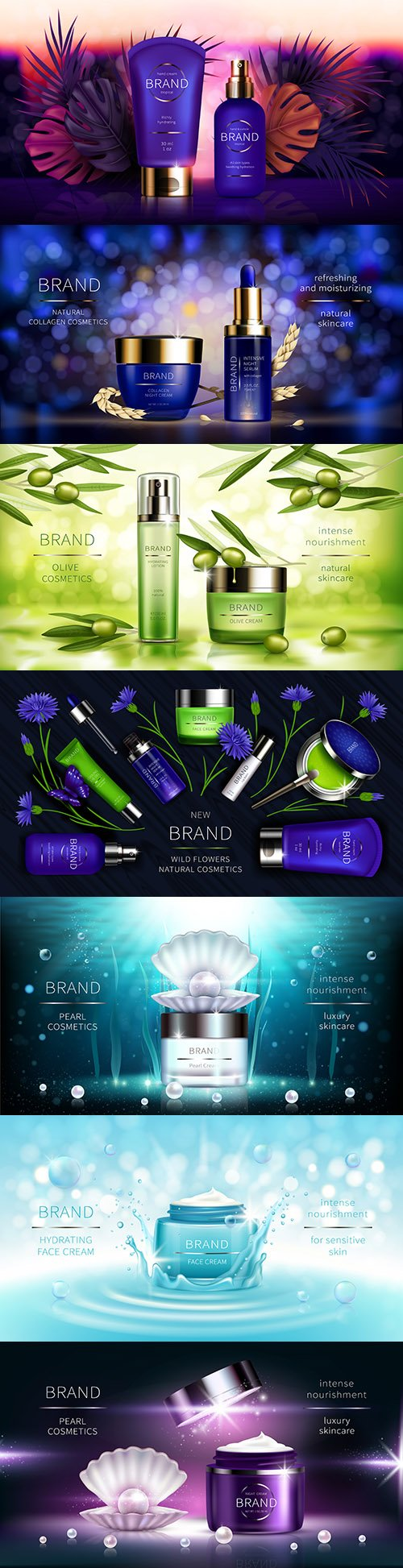 Cosmetics for skin care realistic advertising poster