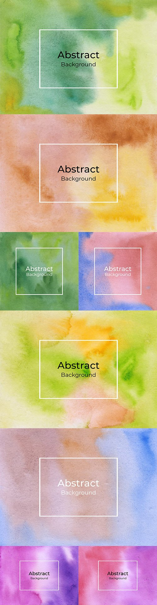 Abstract multicolored watercolor background
