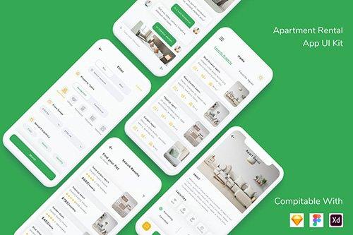 Apartment Rental App UI Kit