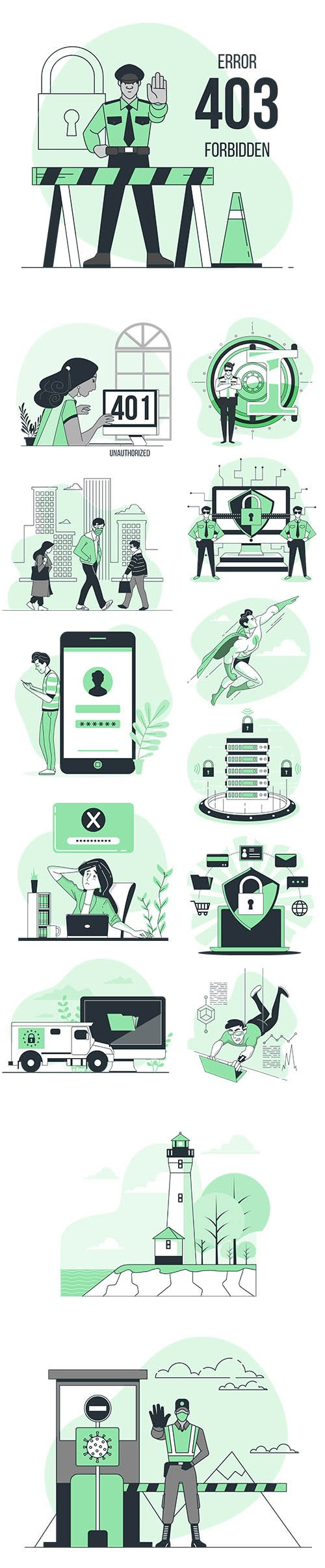 Vector Illustrations Security Concept