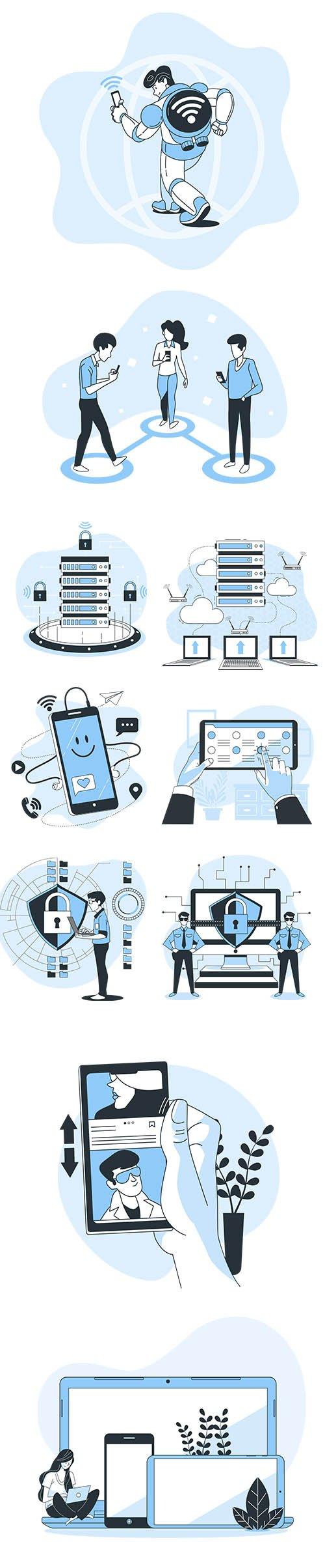 Vector Illustrations Technology Concept Vol 2