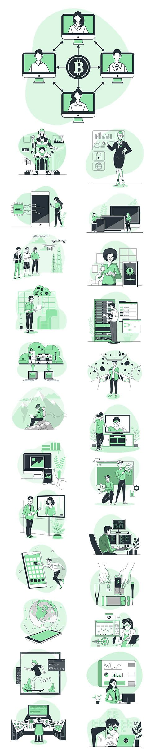 Vector Illustrations Technology Concept