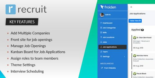CodeCanyon - Recruit v2.2.3 - Recruitment Manager - 22336912 - NULLED