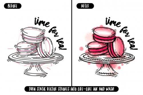 CreativeMarket - The Illustrator Ink Well | Brushes 3099635