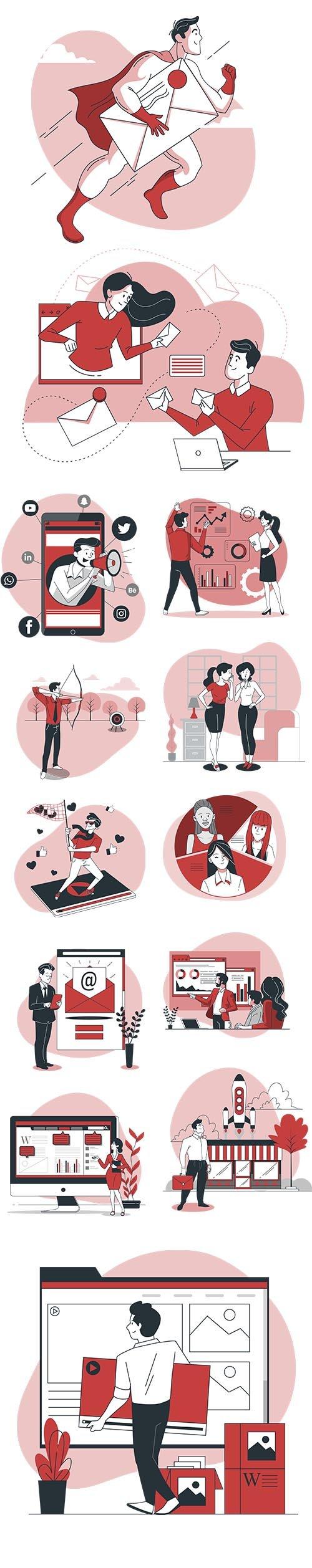 Vector Illustrations Marketing Concept