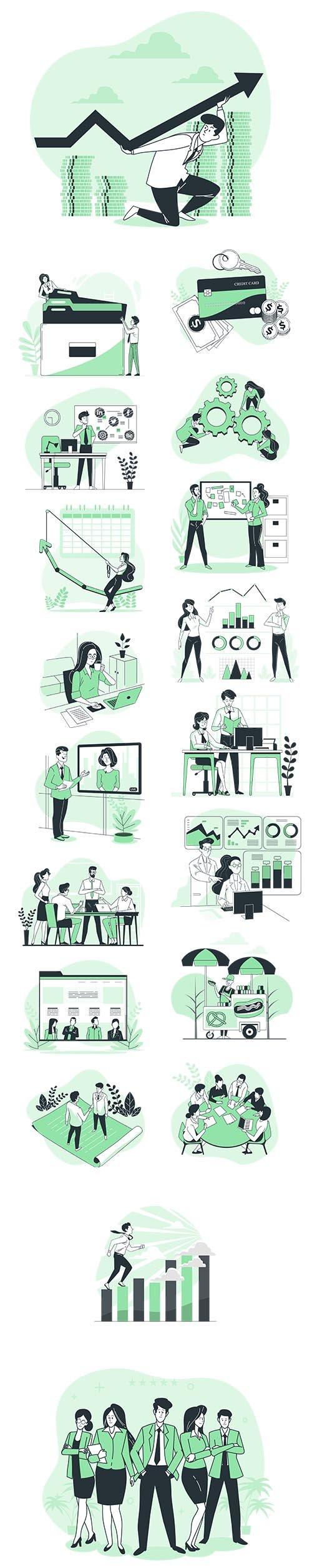 Vector Illustrations Business Concept Vol 2