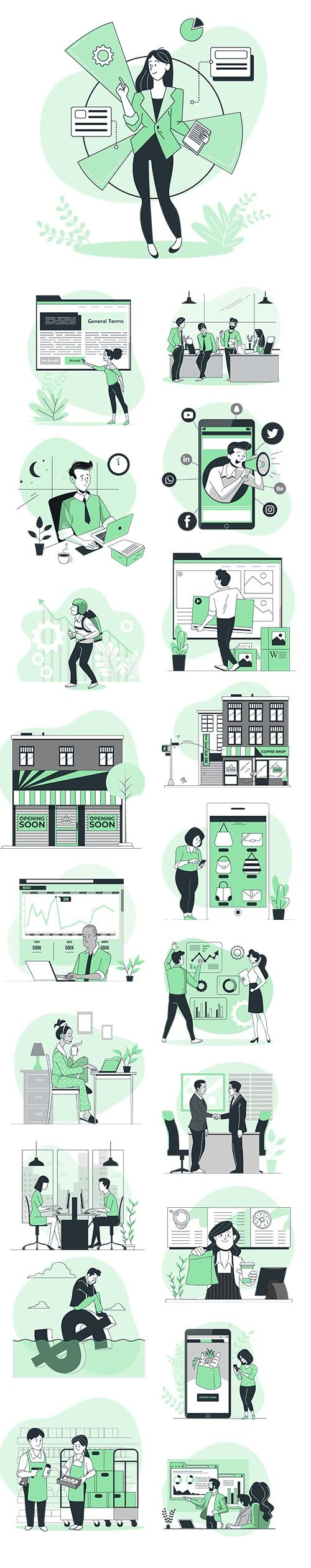 Vector Illustrations Business Concept