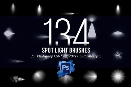 CreativeMarket - 134 Spotlight Brushes for Photoshop 4445949