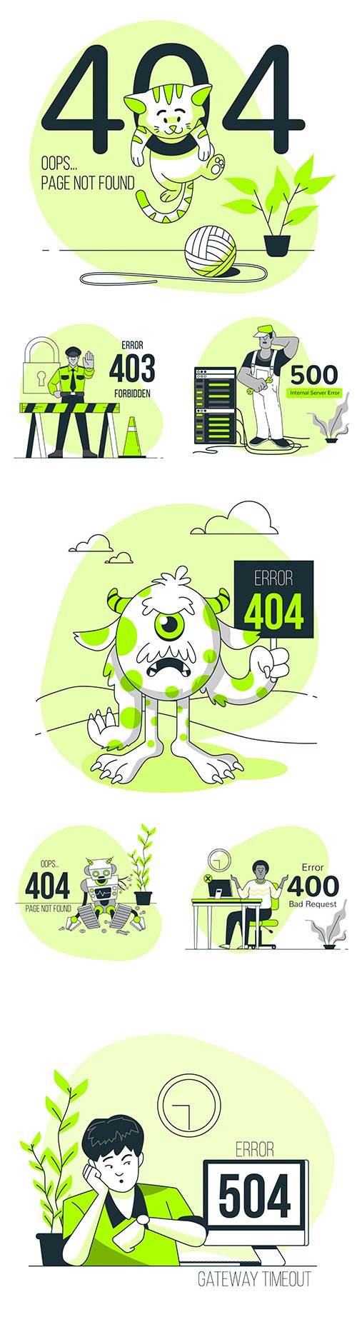 Sorry, no page and error code found by concept illustration 3