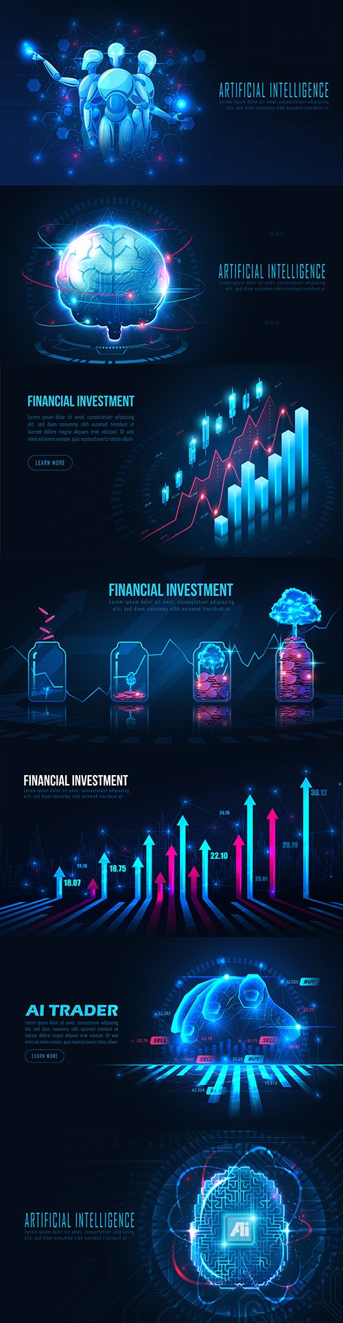 Artificial intelligence and financial analysis chart