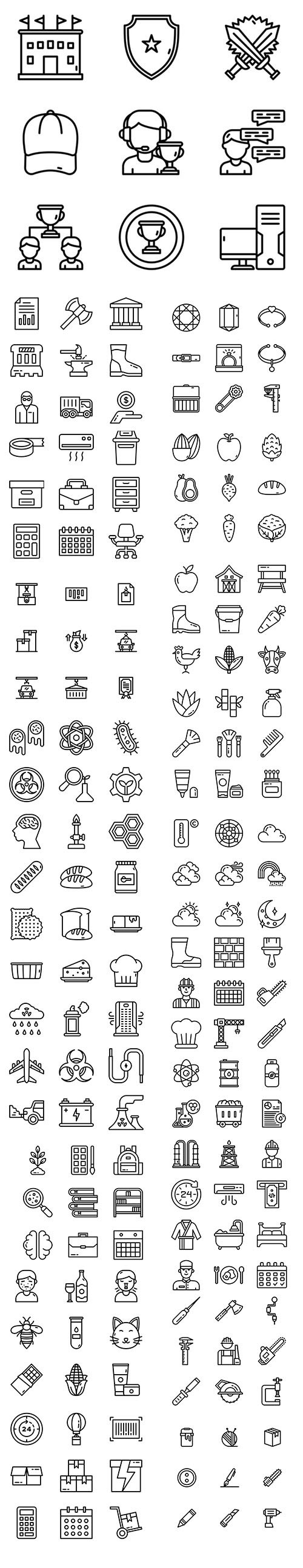 More 900 Icons in 1 Pack!