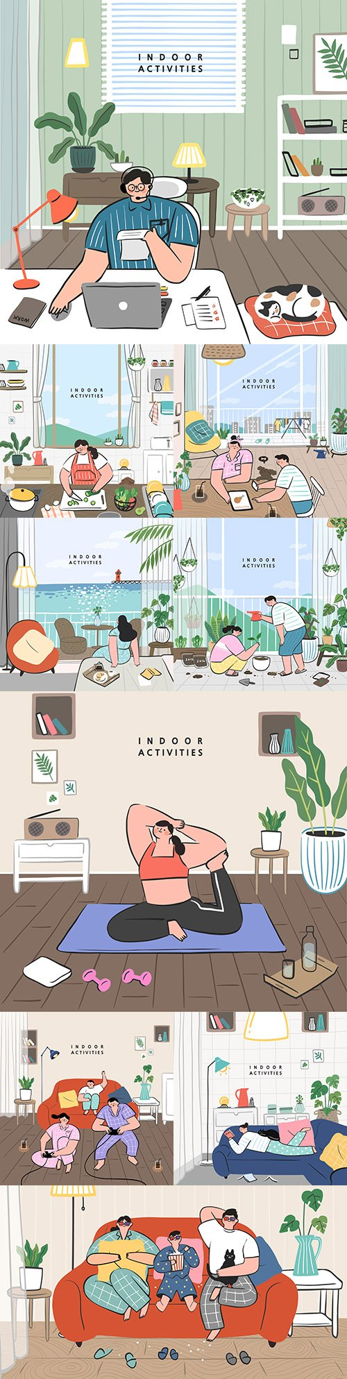 Hobbies are different ideas that can be made by staying at home