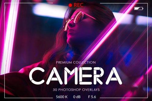 CreativeMarket - Camera Photoshop Overlays 4723761