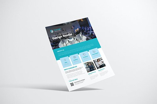 Clean Creative Business Design with Blue Color