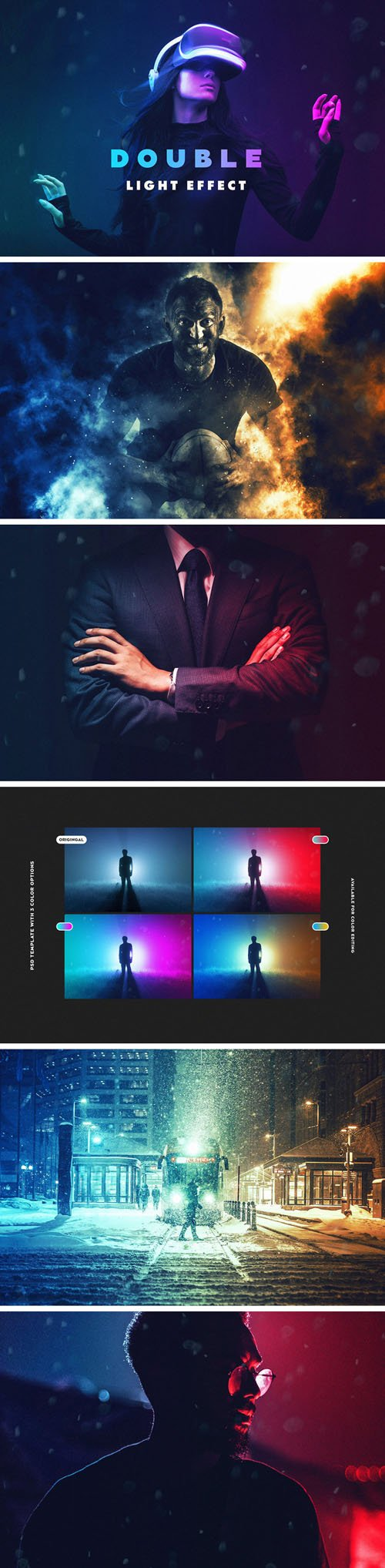 Double Light Photoshop Effect Pack