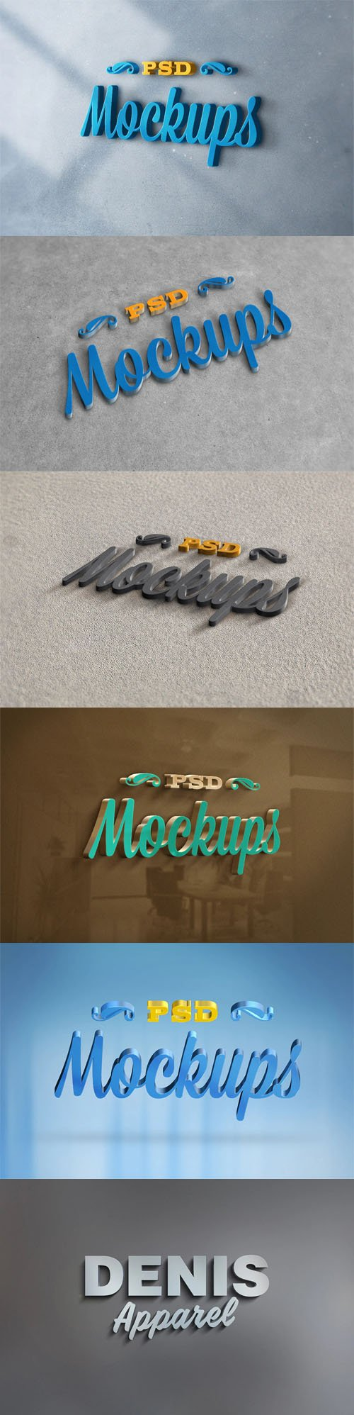 3D Awesome Realistic Logo PSD Mockups Collection