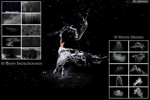 CreativeMarket - 130 Water Splash Photo Overlays 4667763